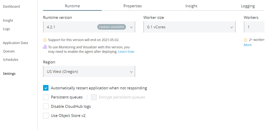 Disable CloudHub Application Logins