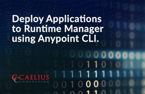 Deploy Applications to Runtime Manager using Anypoint CLI