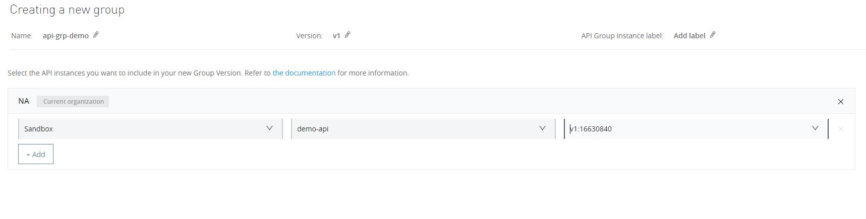 API group add API
