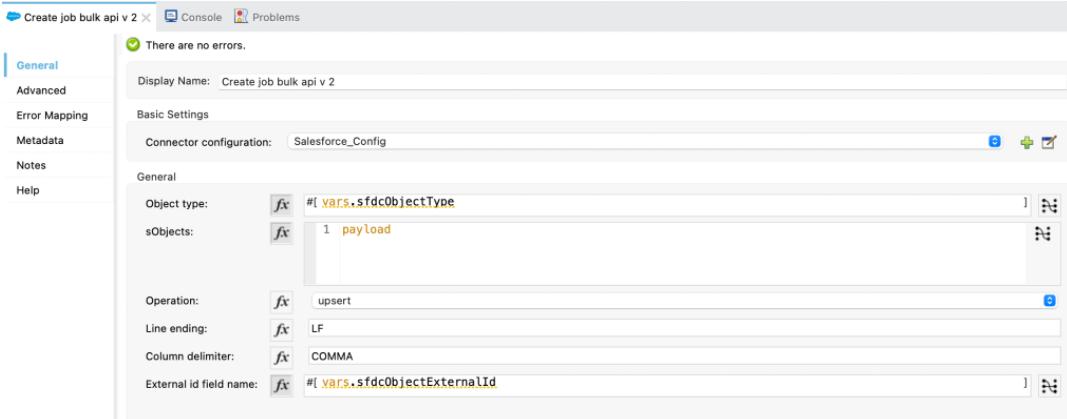 Create bulk job API 2